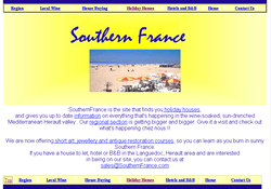 Southern france website in 2000